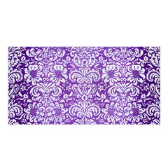 Damask2 White Marble & Purple Brushed Metal Satin Shawl by trendistuff