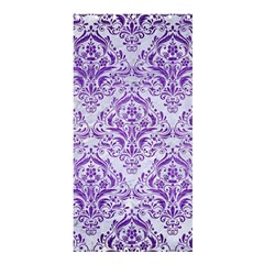 Damask1 White Marble & Purple Brushed Metal (r) Shower Curtain 36  X 72  (stall)  by trendistuff