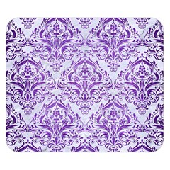 Damask1 White Marble & Purple Brushed Metal (r) Double Sided Flano Blanket (small)  by trendistuff