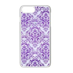 Damask1 White Marble & Purple Brushed Metal (r) Apple Iphone 7 Plus Seamless Case (white) by trendistuff