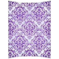 Damask1 White Marble & Purple Brushed Metal (r) Back Support Cushion by trendistuff