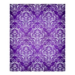 Damask1 White Marble & Purple Brushed Metal Shower Curtain 60  X 72  (medium)  by trendistuff