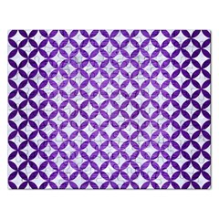 Circles3 White Marble & Purple Brushed Metal (r) Rectangular Jigsaw Puzzl by trendistuff