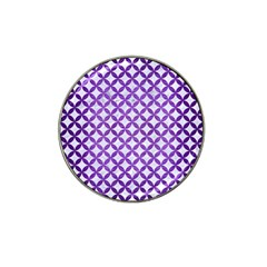 Circles3 White Marble & Purple Brushed Metal (r) Hat Clip Ball Marker (4 Pack) by trendistuff
