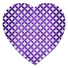 Circles3 White Marble & Purple Brushed Metal (r) Jigsaw Puzzle (heart) by trendistuff