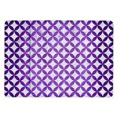 Circles3 White Marble & Purple Brushed Metal (r) Samsung Galaxy Tab 10 1  P7500 Flip Case by trendistuff
