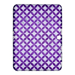 Circles3 White Marble & Purple Brushed Metal (r) Samsung Galaxy Tab 4 (10 1 ) Hardshell Case  by trendistuff