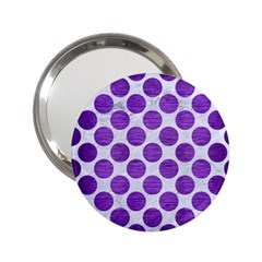 Circles2 White Marble & Purple Brushed Metal (r) 2 25  Handbag Mirrors by trendistuff