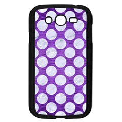 Circles2 White Marble & Purple Brushed Metal Samsung Galaxy Grand Duos I9082 Case (black) by trendistuff
