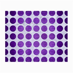Circles1 White Marble & Purple Brushed Metal (r) Small Glasses Cloth by trendistuff