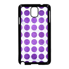 Circles1 White Marble & Purple Brushed Metal (r) Samsung Galaxy Note 3 Neo Hardshell Case (black) by trendistuff