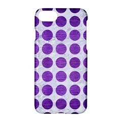 Circles1 White Marble & Purple Brushed Metal (r) Apple Iphone 7 Hardshell Case