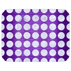 Circles1 White Marble & Purple Brushed Metal Full Print Lunch Bag by trendistuff