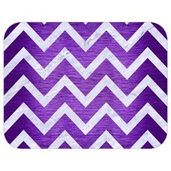 Chevron9 White Marble & Purple Brushed Metal Full Print Lunch Bag by trendistuff