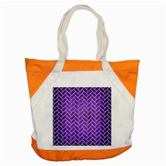 Brick2 White Marble & Purple Brushed Metal Accent Tote Bag by trendistuff