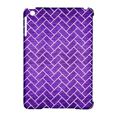 Brick2 White Marble & Purple Brushed Metal Apple Ipad Mini Hardshell Case (compatible With Smart Cover) by trendistuff