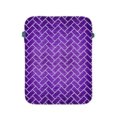 Brick2 White Marble & Purple Brushed Metal Apple Ipad 2/3/4 Protective Soft Cases by trendistuff