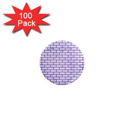 Brick1 White Marble & Purple Brushed Metal (r) 1  Mini Magnets (100 Pack)  by trendistuff