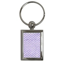 Brick1 White Marble & Purple Brushed Metal (r) Key Chains (rectangle)  by trendistuff
