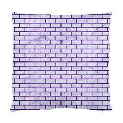 Brick1 White Marble & Purple Brushed Metal (r) Standard Cushion Case (one Side) by trendistuff