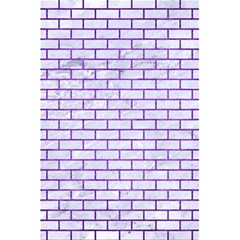 Brick1 White Marble & Purple Brushed Metal (r) 5 5  X 8 5  Notebooks by trendistuff
