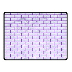 Brick1 White Marble & Purple Brushed Metal (r) Fleece Blanket (small) by trendistuff