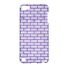 Brick1 White Marble & Purple Brushed Metal (r) Apple Ipod Touch 5 Hardshell Case by trendistuff