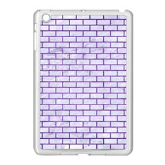 Brick1 White Marble & Purple Brushed Metal (r) Apple Ipad Mini Case (white) by trendistuff