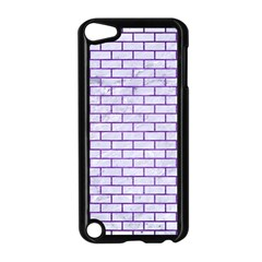 Brick1 White Marble & Purple Brushed Metal (r) Apple Ipod Touch 5 Case (black) by trendistuff