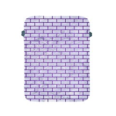 Brick1 White Marble & Purple Brushed Metal (r) Apple Ipad 2/3/4 Protective Soft Cases by trendistuff
