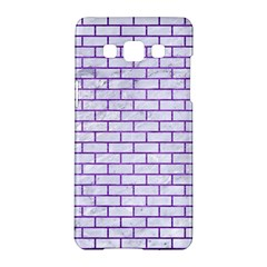Brick1 White Marble & Purple Brushed Metal (r) Samsung Galaxy A5 Hardshell Case  by trendistuff