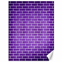 Brick1 White Marble & Purple Brushed Metal Canvas 36  X 48   by trendistuff