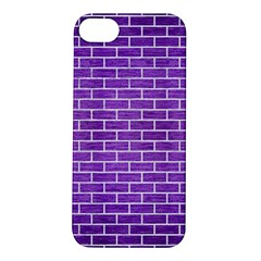 Brick1 White Marble & Purple Brushed Metal Apple Iphone 5s/ Se Hardshell Case by trendistuff