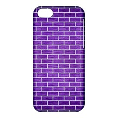 Brick1 White Marble & Purple Brushed Metal Apple Iphone 5c Hardshell Case by trendistuff