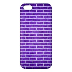 Brick1 White Marble & Purple Brushed Metal Iphone 5s/ Se Premium Hardshell Case by trendistuff