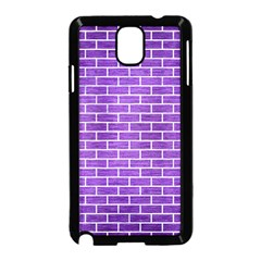 Brick1 White Marble & Purple Brushed Metal Samsung Galaxy Note 3 Neo Hardshell Case (black) by trendistuff