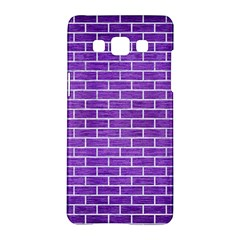 Brick1 White Marble & Purple Brushed Metal Samsung Galaxy A5 Hardshell Case  by trendistuff