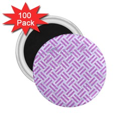 Woven2 White Marble & Purple Colored Pencil (r) 2 25  Magnets (100 Pack)  by trendistuff