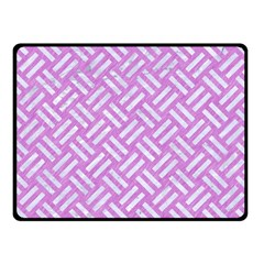 Woven2 White Marble & Purple Colored Pencil Fleece Blanket (small) by trendistuff
