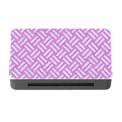 Woven2 White Marble & Purple Colored Pencil Memory Card Reader With Cf by trendistuff
