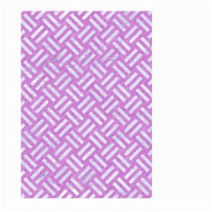 Woven2 White Marble & Purple Colored Pencil Large Garden Flag (two Sides) by trendistuff