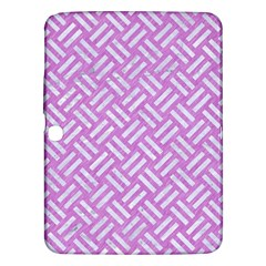 Woven2 White Marble & Purple Colored Pencil Samsung Galaxy Tab 3 (10 1 ) P5200 Hardshell Case  by trendistuff