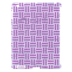 Woven1 White Marble & Purple Colored Pencil (r) Apple Ipad 3/4 Hardshell Case (compatible With Smart Cover) by trendistuff