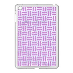 Woven1 White Marble & Purple Colored Pencil (r) Apple Ipad Mini Case (white) by trendistuff
