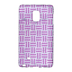 Woven1 White Marble & Purple Colored Pencil (r) Galaxy Note Edge by trendistuff