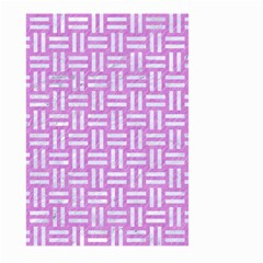 Woven1 White Marble & Purple Colored Pencil Large Garden Flag (two Sides) by trendistuff
