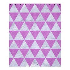 Triangle3 White Marble & Purple Colored Pencil Shower Curtain 60  X 72  (medium)  by trendistuff