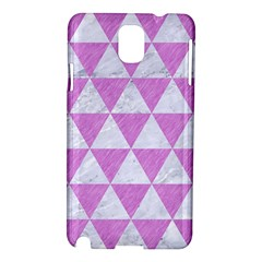 Triangle3 White Marble & Purple Colored Pencil Samsung Galaxy Note 3 N9005 Hardshell Case by trendistuff