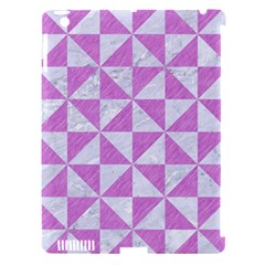 Triangle1 White Marble & Purple Colored Pencil Apple Ipad 3/4 Hardshell Case (compatible With Smart Cover) by trendistuff