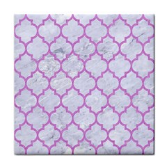 Tile1 White Marble & Purple Colored Pencil (r) Face Towel by trendistuff
